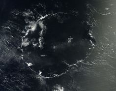 The agency's Terra satellite spotted the O-shaped cloud formation on Sept. 3, as it floated over the Pacific Ocean to the southwest from the Hawaiian Islands. NASA's Earth Observatory released the image on Sept. 27.