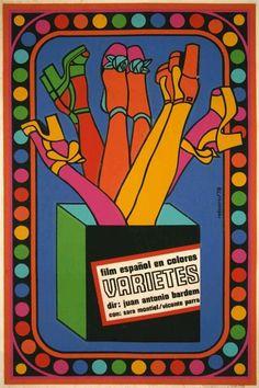 """D. Póster cubano, creado para la película """"Varietes"""" por Antonio Fernández Reboiro. Cuba. (1978)"""