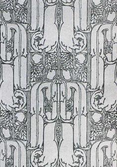 'Walden' wallpaper design by John Illingworth Kay, produced in 1906.