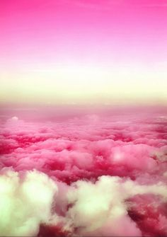 Pretty in pink! Who loves pink? in Pink For cute… Pretty In Pink, Pink Love, Hot Pink, Pretty Sky, My Favorite Color, My Favorite Things, Pink Clouds, Pink Sky, White Clouds