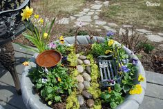 If you don't have room for a quaint stone path and bench, hop onto the fairy garden trend to create your fantasy backyard — just mini-sized. Get the tutorial at Live Craft Love »  - GoodHousekeeping.com