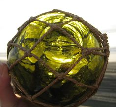 "European Glass Fishing Float - Very Old, 5"" Diameter, JA Fish Mark, via Etsy."