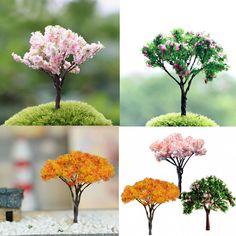 3X Garden Decoration Bonsai Sakura Tree Miniature Plant Pots Fairy Ornament DIY | Dolls & Bears, Dollhouse Miniatures, Doll House Dolls | eBay!