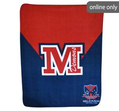 afl-team-logo-polar-fleece-printed-throw-melbourne Quilt Cover Sets, Polar Fleece, Team Logo, Melbourne, Quilts, Printed, Logos, Accessories, Comforters