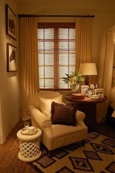 A quiet reading corner