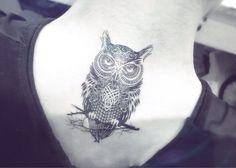 1pcs Owl tattoo  InknArt Temporary Tattoo  wrist quote by InknArt, $4.99