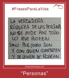 "#FrasesParaLaVida nº 15 ""Personas"""