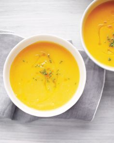 The flavor of pears is wonderful with earthy squash. Another great combo: This soup plus a grilled cheese sandwich make a cozy, comforting lunch.