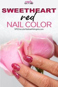 Searching for the perfect at home manicure for Valentine's Day? Add sparkle to your fingertips with Chile It Cool, a vibrant red with fuchsia, pink, and gold glitter! Get easy Valentine's Day nail design inspiration for your next manicure with this gorgeous color from Color Street. #valentinesdaynails #easynailart #designernails
