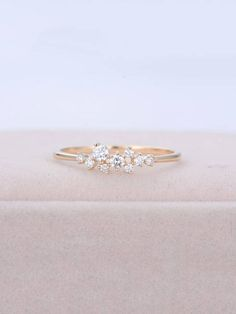 Rose gold means all the stones used in Diamond Rose gold + moissanite means all the stones used in moissanite PRODUCT SPECIFICATIONS Handmade item -Metal Type:Yellow Gold,White Gold,Rose or Nickel Free Natural, Real high Quality Diamonds. -Diamond -The Diamond Cluster Engagement Ring, Yellow Engagement Rings, Unique Diamond Rings, Diamond Wedding Rings, Unique Rings, Gold Wedding, Dream Wedding, Wedding Dress, Bridal Jewelry Sets