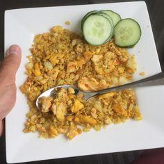 Curryrijst zonder kip