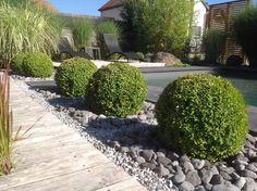 id�es am�nagement mineral jardin avec buis - La maison cube  par choupie90 sur…