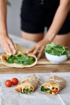 ROASTED CAULIFLOWER & POTATO WRAPS » savoury + filling {vegan, plant-based}