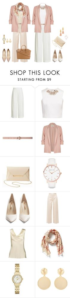 """Pale Pink"" by lori-kinley-raymond on Polyvore featuring Diane Von Furstenberg, Ted Baker, Dorothy Perkins, River Island, Charlotte Russe, Madewell, Abbott Lyon, Sophia Webster, The Row and Kate Spade"