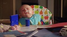 """""""Silly Daddy""""  Poor James Henry, milk splattered all over his face. From 2013, S6E2"""