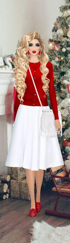 Covet Fashion Games, Fashion Looks, Cartoon, Dolls, Christmas, Baby, Vintage, Dresses, Style