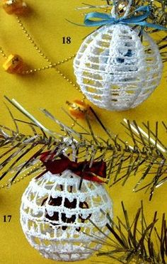 Decorazioni all'uncinetto con schema per l'Albero di Natale Shabby - Il blog italiano sullo Shabby Chic e non solo