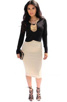 Leslie Bodycon Pencil Skirt