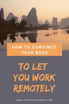 Wondering how to convince you boss to let you work remotely? Here are the top strategies and tips for talking to your boss to secure your first remote job. Make A Presentation, Travel Hacks, Travel Tips, Budget Travel, I Love The Beach, Quitting Your Job, Time Management Tips, Digital Nomad, Work Travel