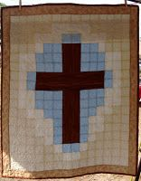 quilted cross wall hanging