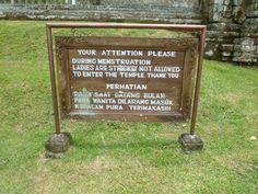 En algunos templos de Bali, las mujeres que estén con la regla no pueden entrar