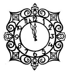 cinderella clock to color | inkspired musings: More Cinderella Glamour