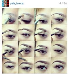 This girl does amazing eyebrow work