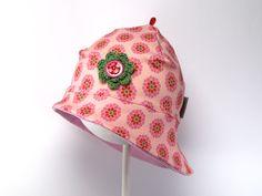 Sonnenhüte - Jersey-Sonnenhut Blümchen rosa - ein Designerstück von JaClar-mit-Liebe-gemacht bei DaWanda