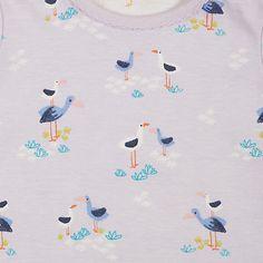 Buy John Lewis Baby Stork Long Sleeve Bodysuits, Pack of 2, Multi Online at johnlewis.com