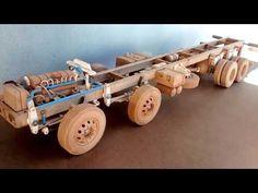 CHASSI DA MINIATURAS FORD CARGO 2429 8X2 EM CONSTRUCAO - YouTube