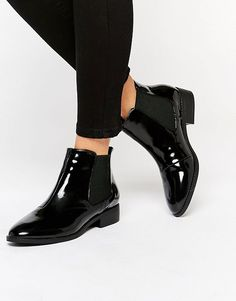 River Island | River Island Patent Point Ankle Boots