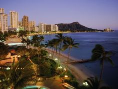 Honolulu, Hawaii Once an idyllic retreat for 19th-century Hawaiian royalty, Honolulu's Waikiki Beach is now chockablock with resorts, some of them  historic like the 1901 Moana Surfrider Hotel. The long, rolling breaks are ideal for novice surfers, but most beachgoers here are  happy basking in the temperate, turquoise blue Pacific and killer views of the Diamond Head crater.
