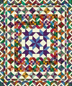 Minnesota Homewarming complete quilt plan with extended center
