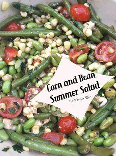 Corn & Green Bean Salad    Oh boy does this look good!
