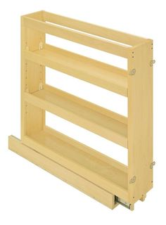 "View the Hafele 545.47.222 27.375"" Tall Maple Pull Out 3 Shelf Organizer for 9"" Framed Base Cabinets at Build.com."
