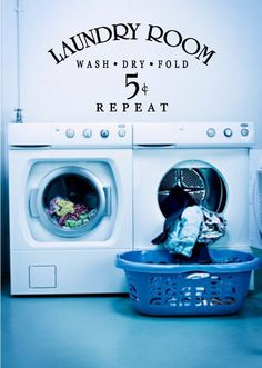A personal favorite from my Etsy shop https://www.etsy.com/listing/216633093/laundry-room-wall-decal-laundry-room