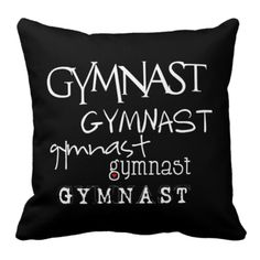 Gymnast x5 Throw Pillow (black)