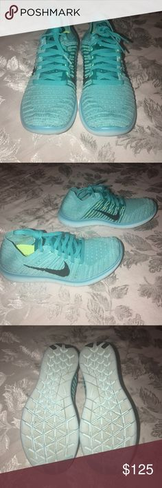 Nike free RN Flyknit Womens Nike free RN flyknit shoes in turquoise. Used once. Very good condition. Like new! Nike Shoes Athletic Shoes