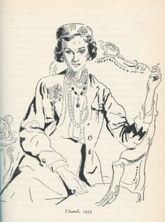 Gabrielle Coco Chanel - 1953 - Illustration by Sir Cecil Beaton