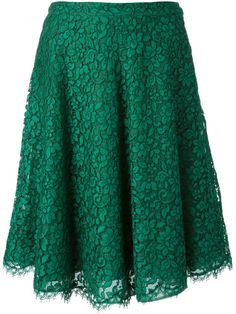 Ermanno Scervino Floral Lace Skirt - First Boutique - Farfetch.com
