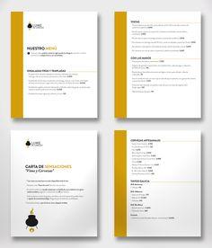 Diseño gráfico y diseño editorial, renovación de carta para el Restaurante Lume de Carozo de Vigo.