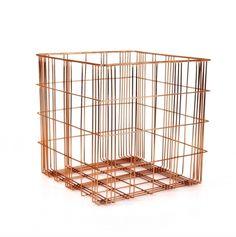 XLBoom opbergmand Harri koper large  SHOP ONLINE: http://www.purelifestyle.be/shop/view/home-living/woonaccessoires-decoratie/xlboom-opbergmand-harri-koper-large