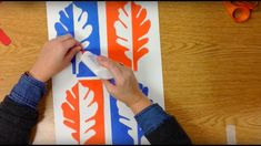 Notan Leaves in Complementary Colors Elementary Art Lesson