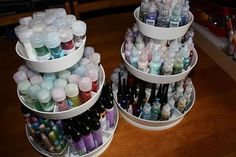 How I Store My Craft Supplies 1 - Glitters, Copic Refills, Pearl Pens, Glitters & Tinsels, Flock and Paints