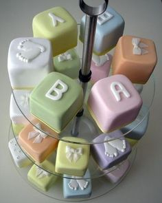 Edible Education! :)   Alphabet ABC Blocks and Cubes as Marzipan Cake, yummy!  We are re-posting this picture and do not own it.