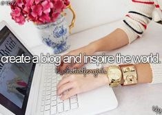 Well the blog has been up for a year now...I'm hoping it is inspiring the world www.inspireyou.co.za