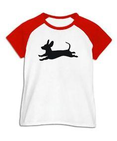 Dachshund jump Women Raglan T-Shirt