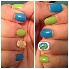 Earth and Sun nails!!
