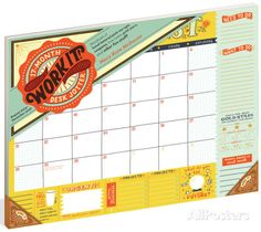 Work It! 17-Month Jotter - 2016 Desk Blotter Calendars at AllPosters.com