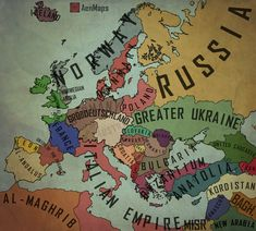 Another alternate map. Thanks for all the kind feedback on my first map. I apologize if I offend anyone with this map. This is alternate. Feedback would. An Alternate Europe - Map Alternate Worlds, Alternate History, What Year Is It, Classy Quotes, Ukrainian Art, Fantasy Map, Interesting History, Historical Maps, Military Art